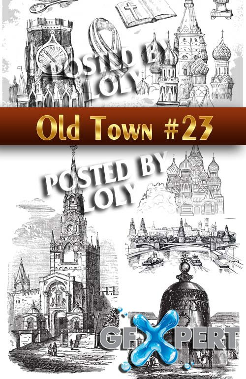 Old Town #23 - Stock Vector