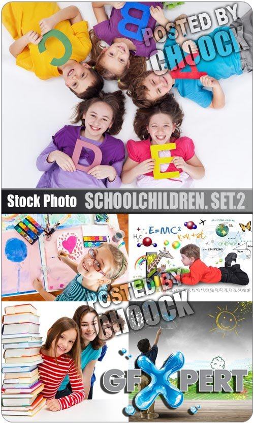 Schoolchildren. Set.2 - Stock Photo