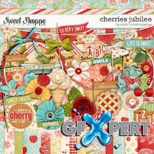 Digital scrap set - Cherries Jubilee