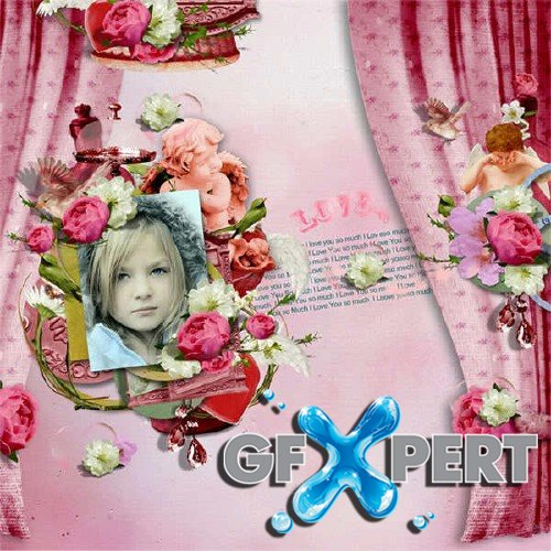 Digital scrapbooking set - In my Heart