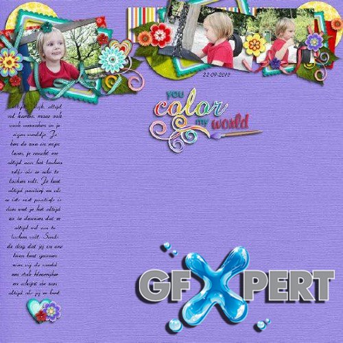 Digital scrapbooking kit - You Color My World