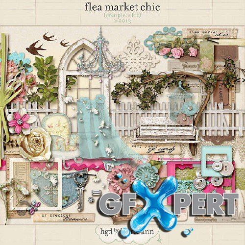Digital scrapbooking set - Flea Market Chic