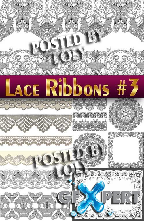Lace ribbons #3 - Stock Vector
