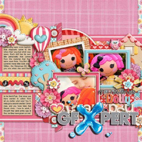Digital scrapbooking kit - Sew Cute and Sweet