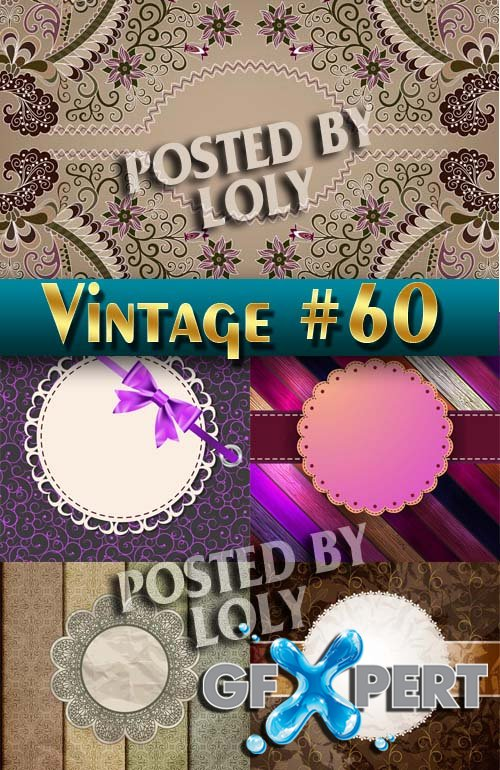 Vintage backgrounds #60 - Stock Vector