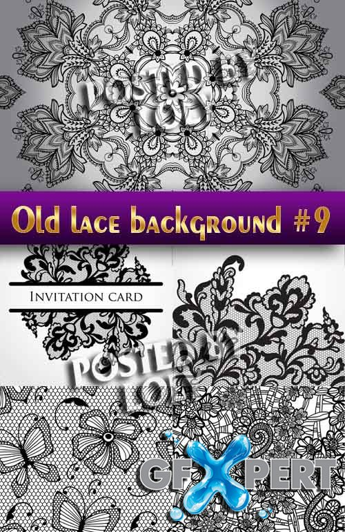 Vintage lace background #9 - Stock Vector