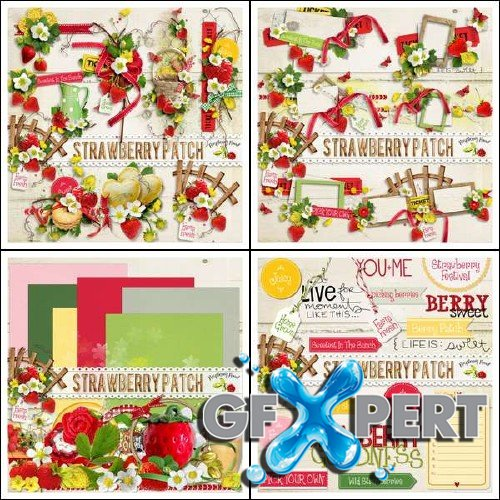 Scrapbooking set - Strawberry Patch