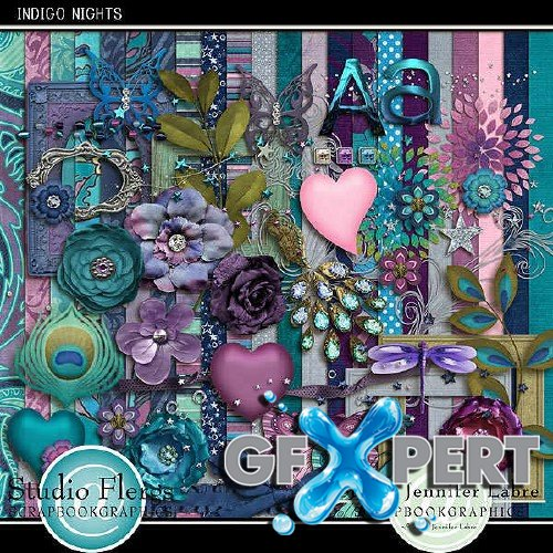 Scrapbooking kit - Indigo Nights