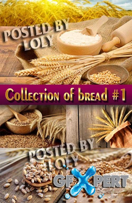 Food. Mega Collection. Bread and wheat #1 - Stock Photo