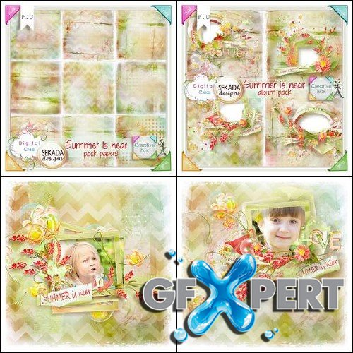 Scrapbooking kit - Summer is near