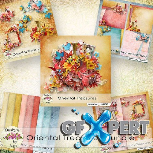 Scrap set - Oriental treasures