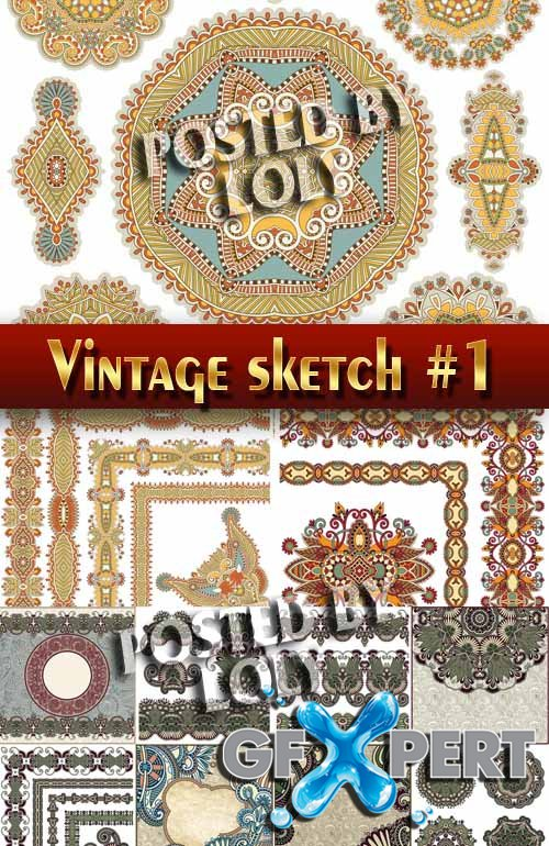 Vintage elements and borders #1 - Stock Vector