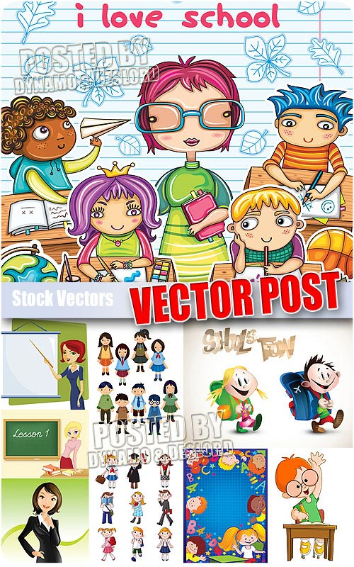 School cartoons - Stock Vectors