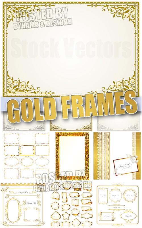 Gold Frames - Stock Vectors