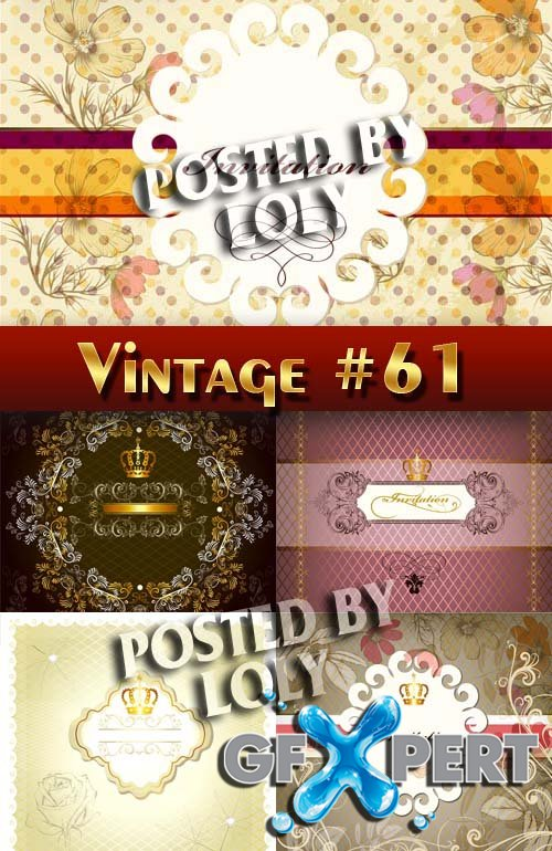 Vintage backgrounds #61 - Stock Vector