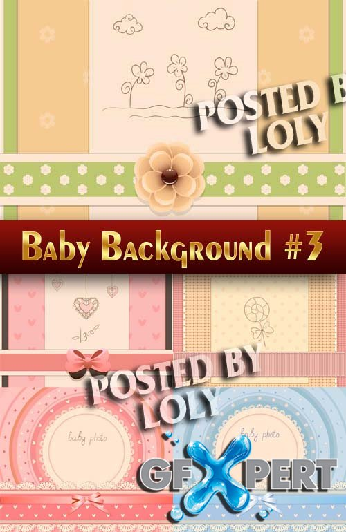 Baby backgrounds #3 - Stock Vector