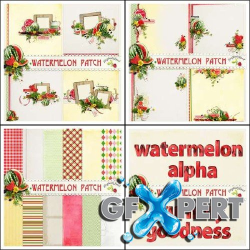 Digital scrapbooking set - Watermelon Patch
