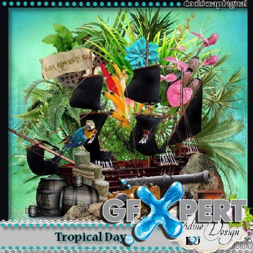 Digital scrapbooking kit - Tropical Day