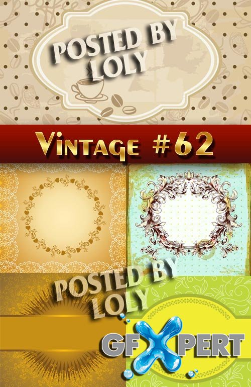 Vintage backgrounds #62 - Stock Vector