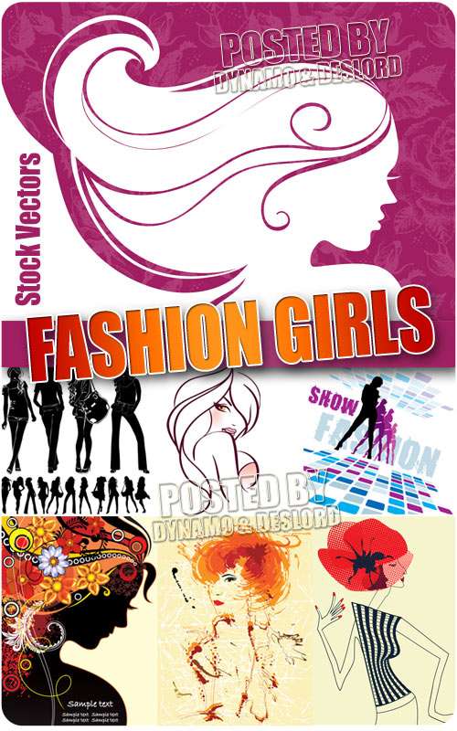 Fashion girls 6  - Stock Vectors