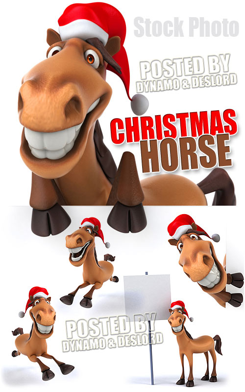 Christmas horse - UHQ Stock Photo