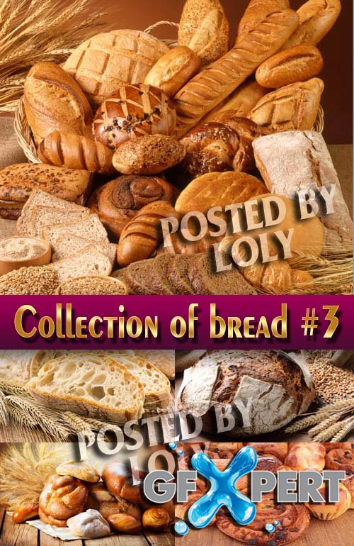 Food. Mega Collection. Bread and wheat #3 - Stock Photo