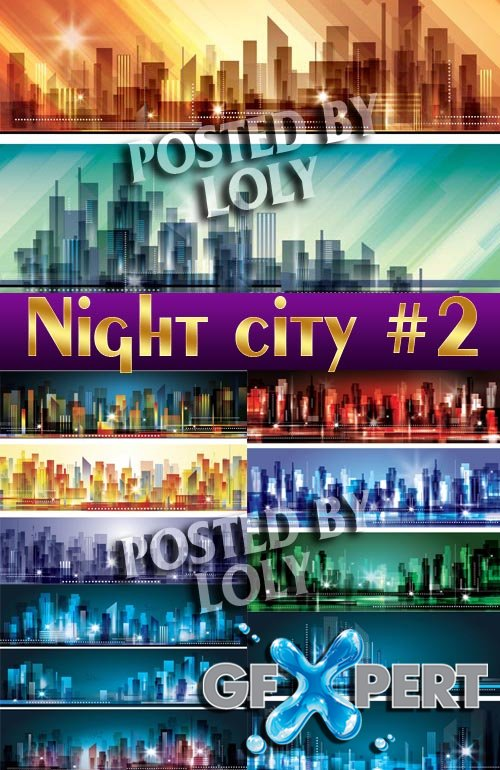 Night City #3 - Stock Vector