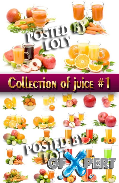 Food. Mega Collection. Fresh juices #1 - Stock Photo