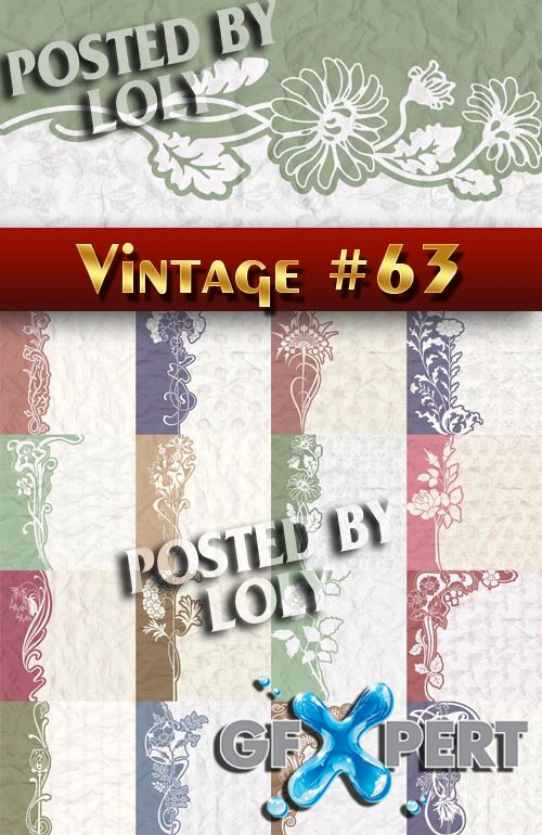 Vintage backgrounds #63 - Stock Vector
