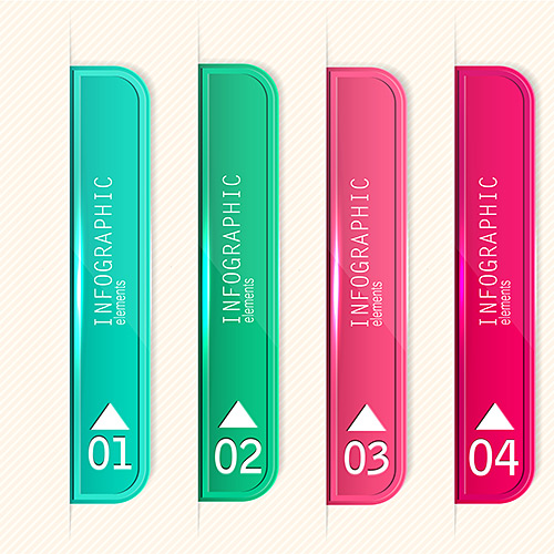 [Stock Vectors] Bookmarks, stickers and labels