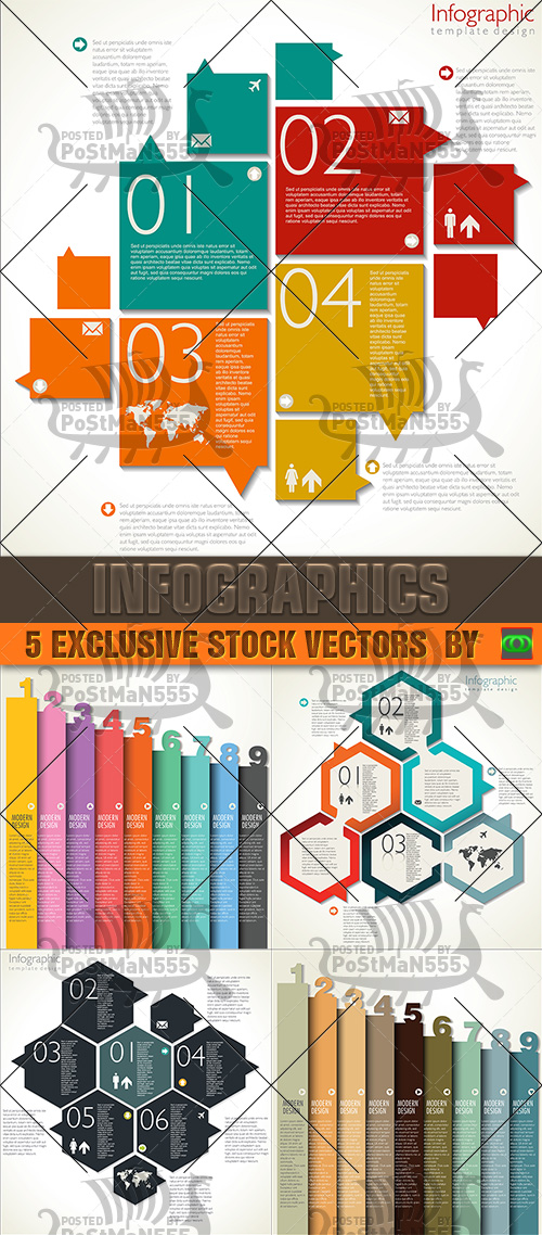 [Vector illustrations] Modern Design Template - Infographics