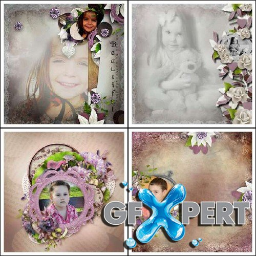 Digital scrapbooking set - Happiness