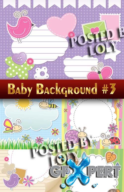 Baby backgrounds #4 - Stock Vector