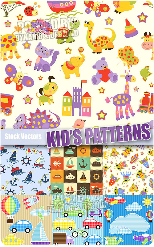 Kid patterns - Stock Vectors