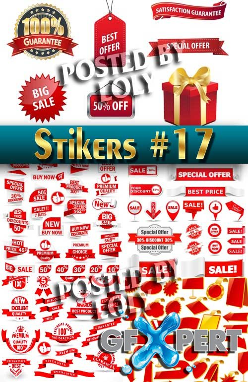 Stickers. SALE #17 - Stock Vector