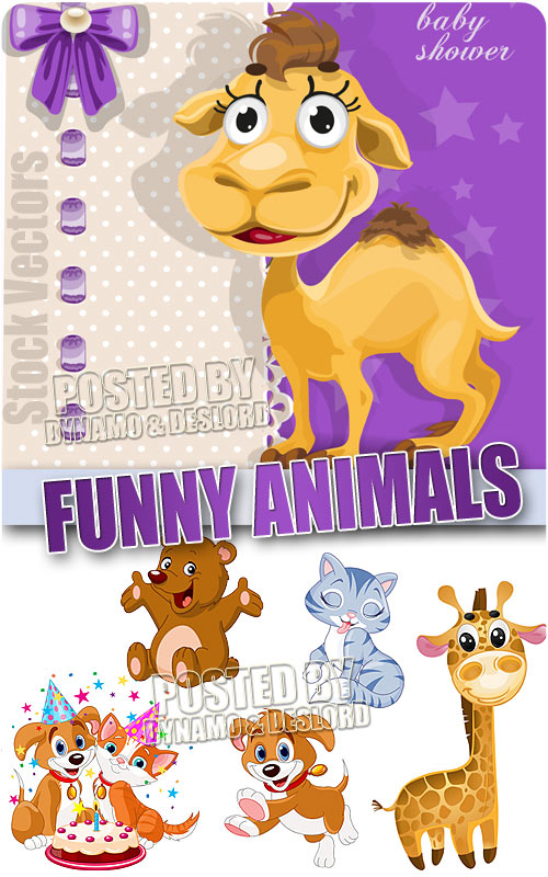 Funny animals - Stock Vectors