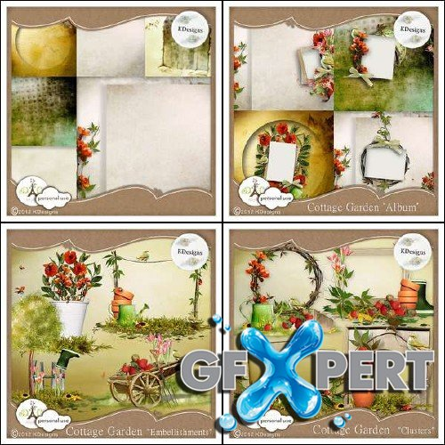 Scrapbooking kit - Cottage Garden