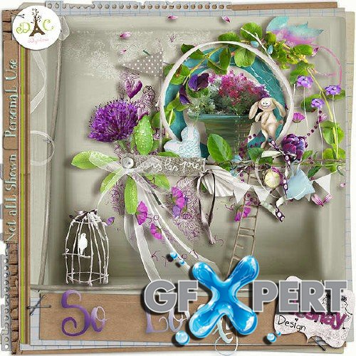 Digital scrapbooking kit - So Lovely