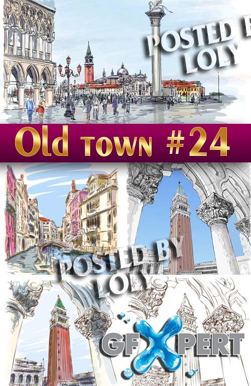 Old Town #24 - Stock Vector