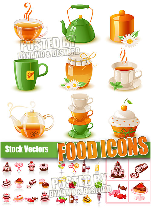 Food icons - Stock Vectors