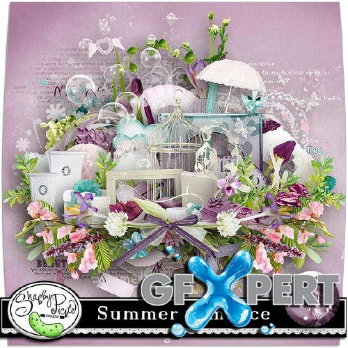 Scrapbooking set - Summer romance