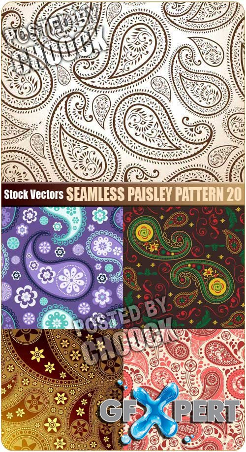 Seamless paisley pattern 20 - Stock Vector