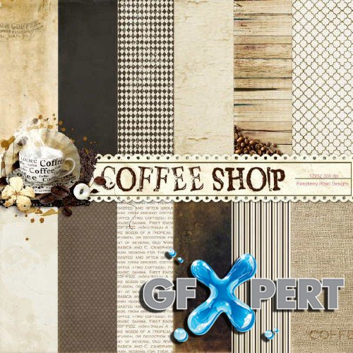 Scrap set - Coffee Shop