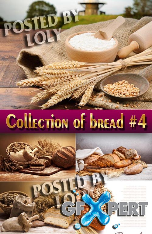 Food. Mega Collection. Bread and wheat #4 - Stock Photo
