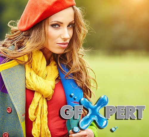 PhotoStock - Beautiful girl in autumn park, 2