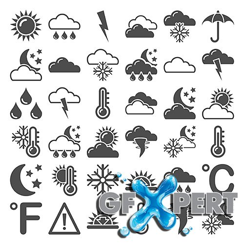 Vector - Weather Forecast - Icons set 2