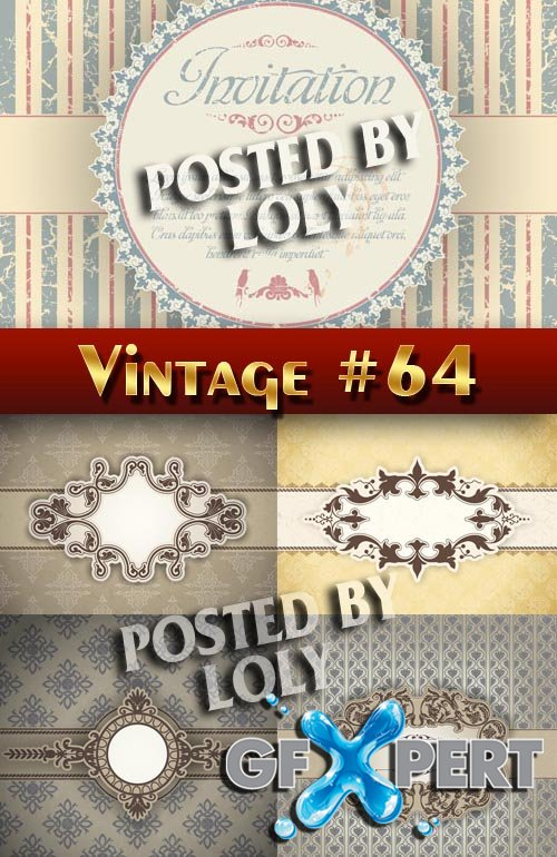 Vintage backgrounds #64 - Stock Vector