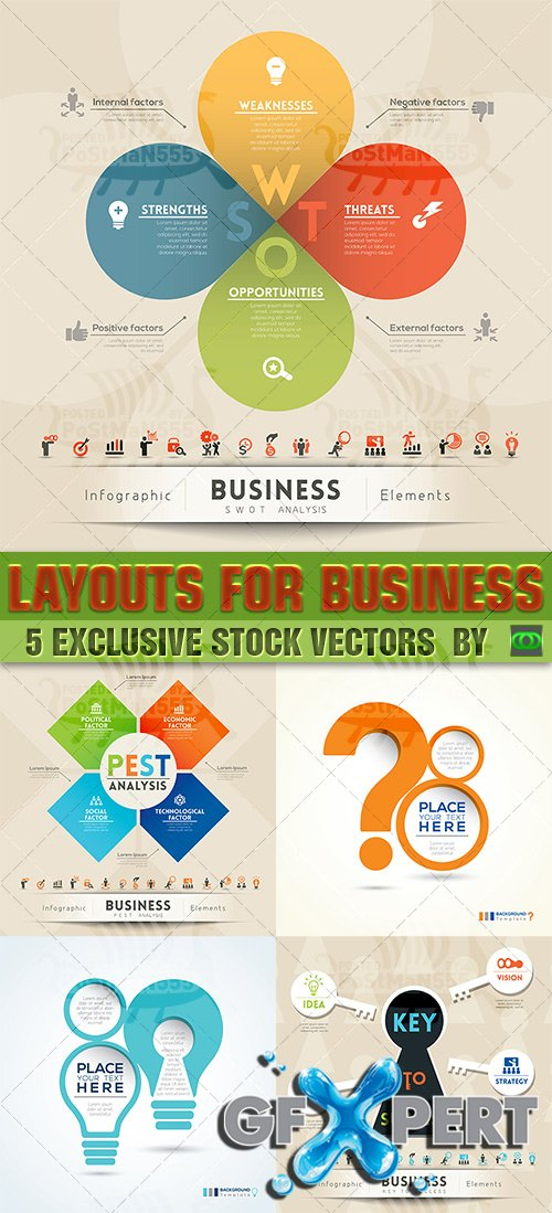 Vector - Abstract Design Layouts - Business