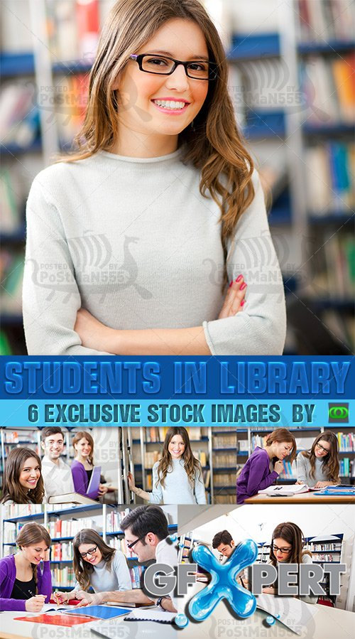 PhotoStock - Students in library