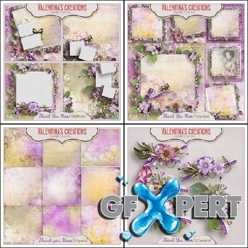 Scrapbooking set - Thank you Mom